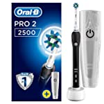 Oral-B Pro 2500 Electric Rechargeable Toothbrush Powered by Braun - Black
