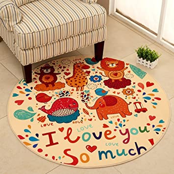 ... Non-slip Cartoon Round Rug Computer Chair Pad Basket Mat Tent Mats Bedside Rug Green Washable ( Size  Diameter 80cm ) Amazon.co.uk Kitchen u0026 Home  sc 1 st  Amazon UK & Good thing carpet/rug Non-slip Cartoon Round Rug Computer Chair ...