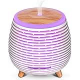 SALKING Humidificador Aceites Esenciales, Difusor de Aromaterapia, Difusor Ultrasonico de Aceites Esenciales con LED de 7 Col