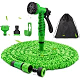 Expandable Garden Hose 100FT - Flexible Magic Hosepipes Hose Pipe No-Kink with 7 Function Spray Gun, 30M Expanding Watering H
