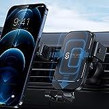 Syncwire förbättrad smartphonehållare för bil – tyngdkraft mobiltelefonhållare, billås 360°-rotation ventilationsfackfäste un