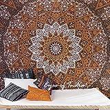 Eyes of India - groß Königin braun Indisch Hippie Mandala Wandbehang Wandbehang Picknick unkonventionell Boho bunt