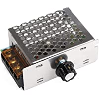 Robotbanao SO-9FKA-VTFI 4000w 220v Ac Scr Voltage Regulator Dimmer Electric Motor Speed Controller, Silver