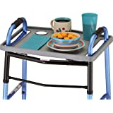 NOVA Walker Tray, Food Tray with 2 Cup Holders for Folding Walker, Fits on Most Folding Walkers, 1 Count (Pack of 1)
