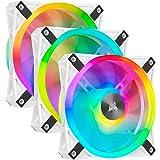 Corsair iCUE QL120 RGB, Ventilador LED RGB , 102 LED RGB Direccionables Individualmente, De Hasta 1500 RPM, Silencioso, Amort