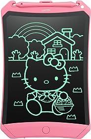 NEWYES LCD Schreibtafel 8,5 Zoll hellere Schrift mit Anti-Clearance Funktion und Dicke Linien,Magnete,Stift Papierlos für Schreiben Malen Notizen Super als Geschenke (Rosa)