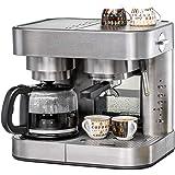 Koffie/Espresso Center EKS 3010 ElPresso Duo deluxe – roestvrij staal, koffiezetapparaat, zeefdrager, mondstuk voor melkschui