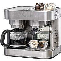 ROMMELSBACHER Kaffee/Espresso Center EKS 3010 - Filterkaffeemaschine, Glaskanne, Siebträger, Filtereinsatz für 1 bzw. 2…