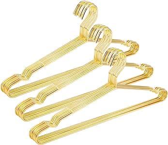 DILY 50 Strong Hanger Hangers Bronze Metal Wire Clothes Coat Trouser Bar 40cm T Shirt 10