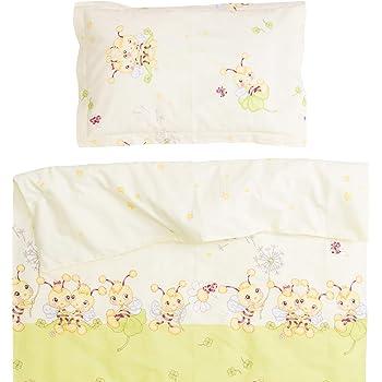 ed64cb28076ee Les abeilles - Pati Chou 100% Coton Linge de lit pour bébé (Taie d oreiller  et Housse de couette 120x150 cm)