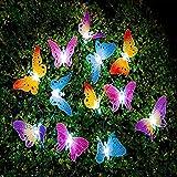 Berocia mariposa guirnalda luces exterior solar led luces led solares para exteriores jardin Luces Decorativas Guirnaldas Dec