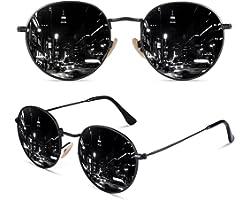 CGID Occhiali da Sole Uomo e Donna Piccoli Lennon Rotondi Circolari Tondi