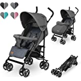 Lionelo Elia Buggy Small Folding Stroller Graphite for Children up to 15 kg