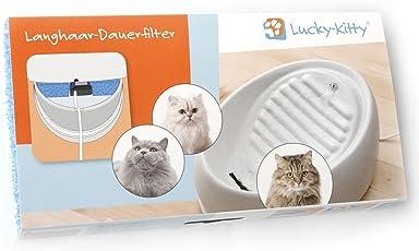 """Lucky-Kitty Langhaar-Dauerfilter, Made in Germany mit """"Ökotex-100 Zertifizierung"""" für geprüfte Schadstoff-Freiheit."""