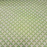 Stoff Meterware Baumwolle grün Raute Fächer beschichtet