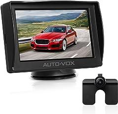 AUTO-VOX M1 Rückfahrkamera mit Monitor, IP68 Wasserdichte AutoKamera für Einparkhilfe Rückfahrhilfe mit Stabiler Signalübertragung, 4.3'' TFT LCD Rückansicht Bildschirm,anpassend für nahezu alle Automodelle