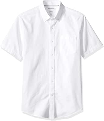 Amazon Essentials Men's Slim-fit Short-Sleeve Pocket Oxford Shirt