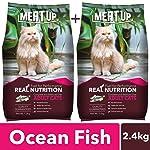 Meat Up Adult Cat Food, Ocean Fish - 1.2 kg Pack (Buy 1 GET 1 Free)
