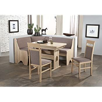 Dreams4Home Eckbankgruppe \'Pago\' Essgruppe 166 x 126 x 87 cm Tisch 2 ...