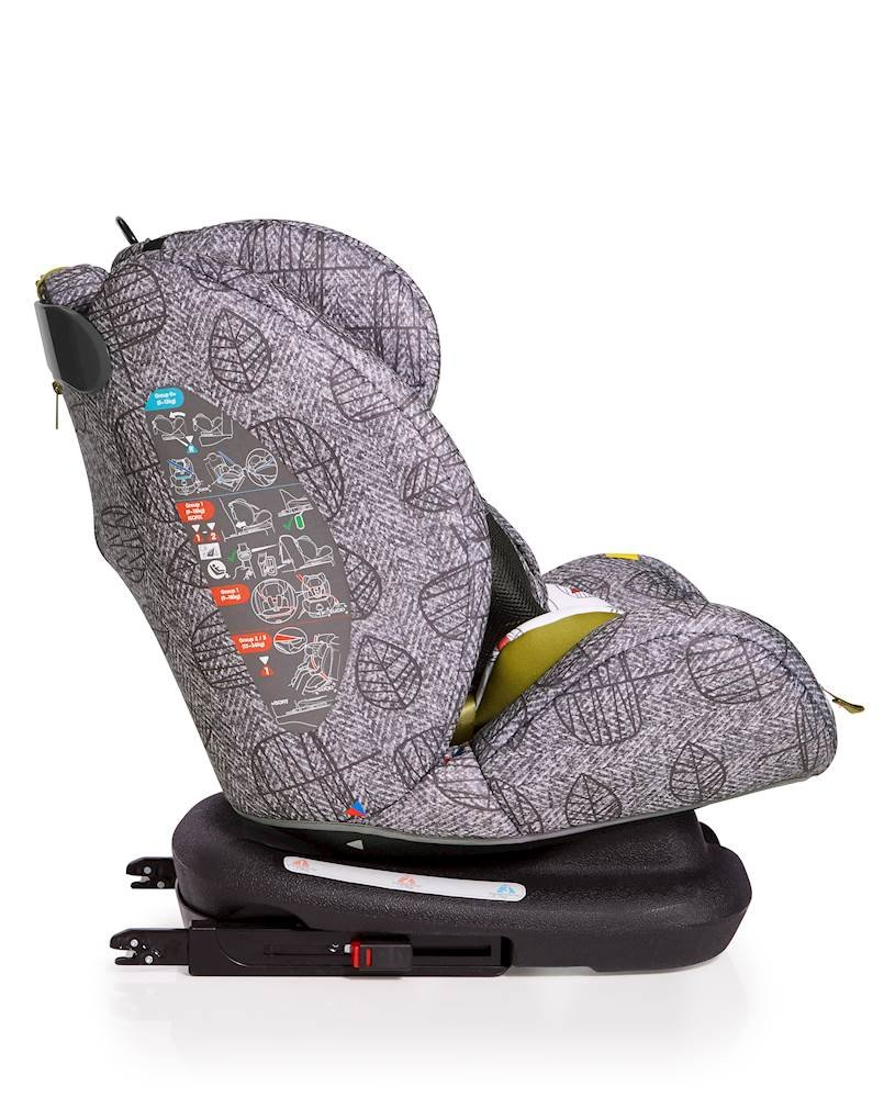 Cosatto All-in-All Group 0+123 Car Seat, Dawn Chorus, 0-36 kg Cosatto This utmost car seat takes your passenger from-birth all the way to 36 kg (approximately 12 years) Rearward-facing 0-13 kg then forward-facing 9-36 kg All-in-all comes with ISOFIX and ISOFIT fitting options for added safety, plus can be belt fitted in all groups 4
