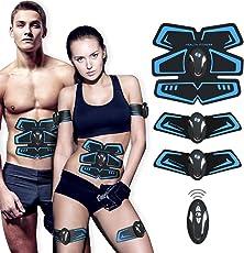 【Neue Version 2018】 Muskelstimulation,EMS Training Muskelstimulator Elektroden Pads für Muskelaufbau zu Hause, Muskelstimulationsgerät für Herren Damen Geschenk