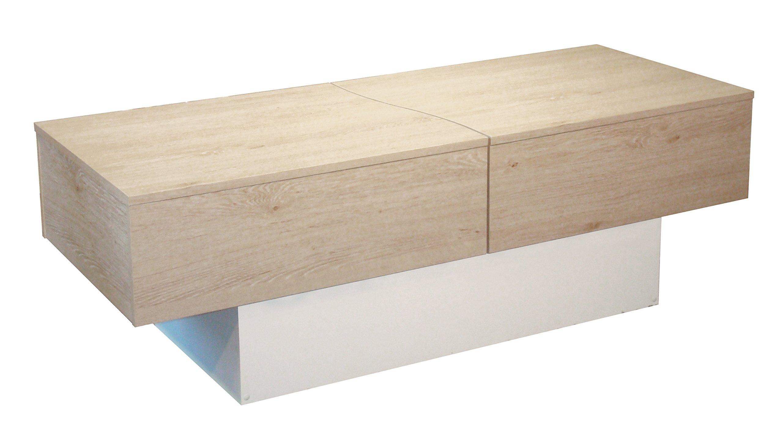 Table cérusé cm Basse Chêne x 43 x City Box Berlioz Blanc 51 123 et Creations 2YIHWE9D