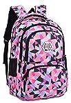 SellerFun Girl Flower Printed Primary Junior High University School Bag Bookbag Backpack(C Black,35 Liters)