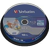 Verbatim 43804 - Discos Blu Ray BD-R de 25 GB, Imprimibles, Inyeccion de tinta, Vel. Max. 6x