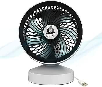 KLIM™ Breeze - Ventilateur de Bureau USB Haute Performance - Ventilo de Table - Silencieux et Ajustable - Blanc [ Nouveau 2020 ]