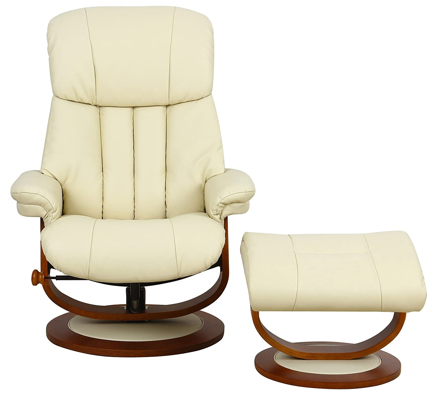 The Hereford Genuine Top Grain Leather Swivel Recliner Chair in