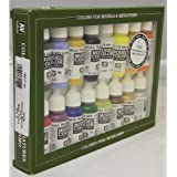 Vallejo USA Coffret de 16pots de peinture acrylique pour modélisme Couleurs assorties