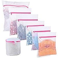 BoxLegend Sacs à Linge Filet à Linge Sacs en Tissu pour la lessive - Paquet de 7, Sac de Machine à Laver résistant pour…