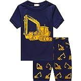 DHASIUE Conjunto de pijama corto de dos piezas para niño, de algodón, para verano