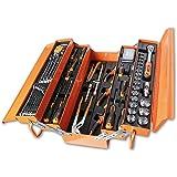 Beta Tools Beta 2120L-E/T91-I Cassetta portautensili, a cestello, in lamiera e assortimento di 91 Utensili per Manutenzione G