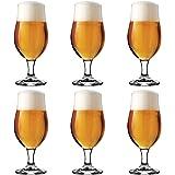 Libbey Verre à bière Munique - 26 cl - ensemble de 6 – sur pied - design fontionnel – haute qualité