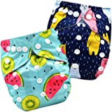 Bembika A Plus Printed Cloth Diapers for Babies, Washable Reusable, Adjustable Sizes (2 Combo) (No Inserts Included) 2I