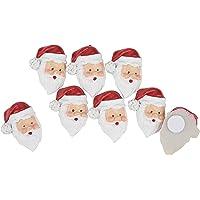 Mini-têtes de Père Noël,VBS, avec pastille adhésive, 8 pc.
