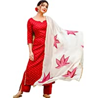 ANNI DESIGNER Women's Raspberry Handpainted Suit Set