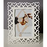 Painting Mantra Decoralicious White Heart Photo Frame/Wall Hanging for Home Décor