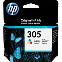 HP 305 3YM60AE Cartuccia Originale, da 100 Pagine, per Stampanti a Getto di Inchiostro HP DeskJet 2700, 2730, 4100, 4134…