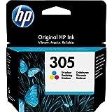 HP 305 3YM60AE Cartuccia Originale, da 100 Pagine, per Stampanti a Getto di Inchiostro HP DeskJet 2700, 2730, 4100, 4134 e HP