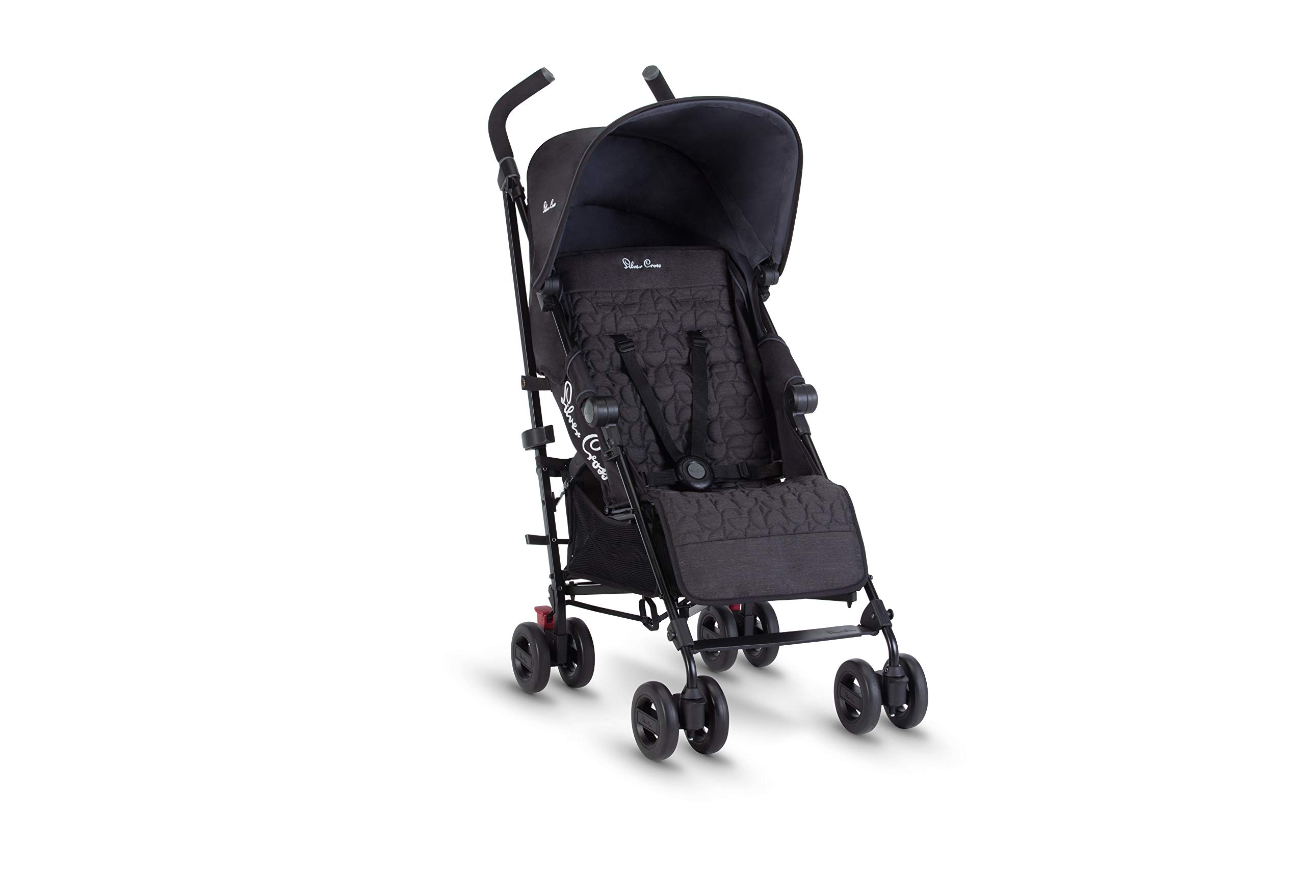 Silver Cross Zest Charcoal Black Silver Cross Ultra lightweight zest pushchair, weighing in at only 5.8kg, is suitable from birth up to 25kg It has a convenient one-hand fold, while the compact design makes it easy to store The fully lie-flat recline is best in its class 3