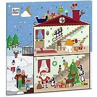 Ritter Sport Quadrat-Adventskalender, 347 g, bunter Weihnachtskalender mit 24 Schokoladenstücken in 8 leckeren Sorten…