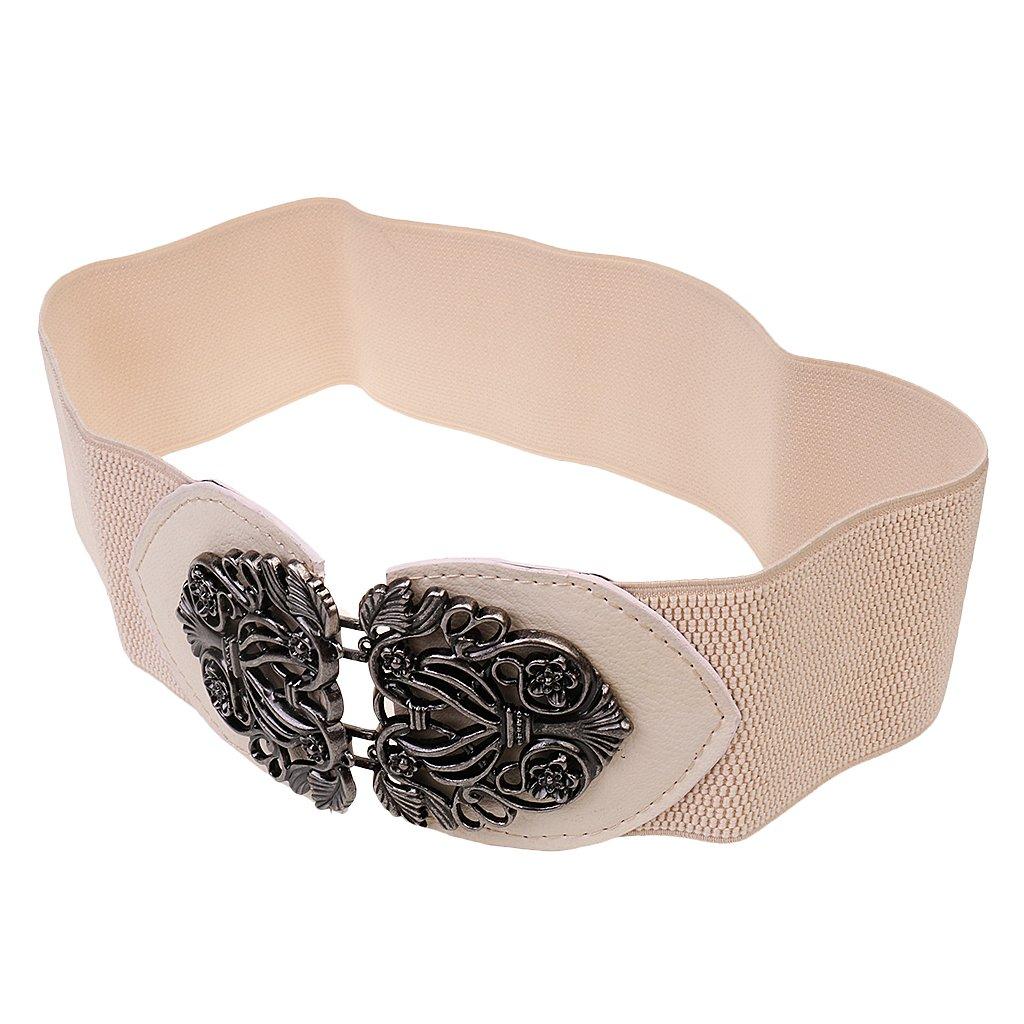 Cinturones Elástico Cintura De Hebilla Para Mujer Señoras Del Cuero PU Correa Ancha