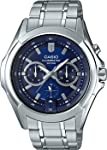 Casio Mens Quartz Watch, Analog Display and Stainless Steel Strap MTP-E204D-2AVDF
