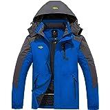 Wantdo Chaqueta de Esquí de Montaña para Hombre Abrigo de Invierno Impermeable con Capucha Cazadora de Snowboard Cálida Chaqu