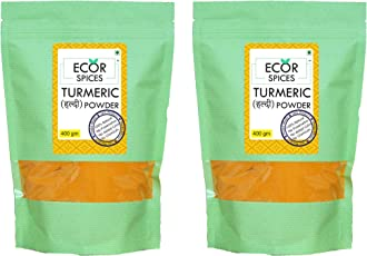 Ecor Spices Home Made Turmeric Powder Combo, Pack of 2, Each 400 gm