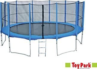 TOY PARK Fitness 12Ft Trampoline with Enclosure net and Poles Safety Pad ,Ladder (12ft) ,US Made UV Resistant Jumping Mat, Height is 250cm