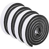 HQdeal Weer strippen deurafdichting strip,Deurafdichting ontwerp excluder tape schuimtape enkelzijdig zwart zelfklevend gelui