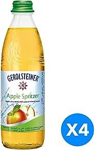 Gerolsteiner Apple Spritzer in Glass bottle - 330ml (Pack of 4)